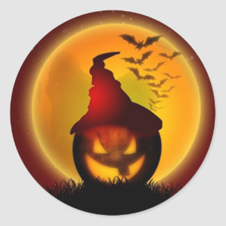 Halloween Classic Round Sticker