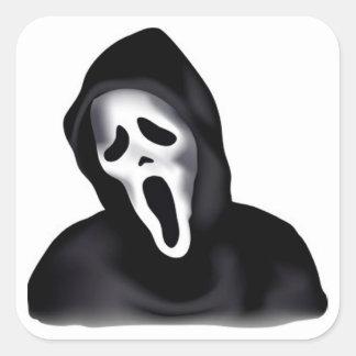 Halloween Classic Round Sticker/Creepy Ghost Square Sticker