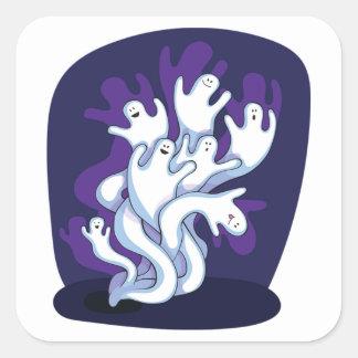 Halloween Classic Round Sticker/Cute Ghost Square Sticker