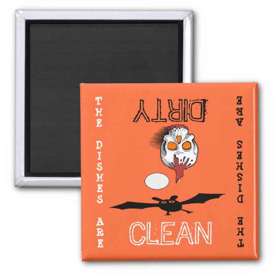 Halloween Clean Dirty Dishwasher Magnet