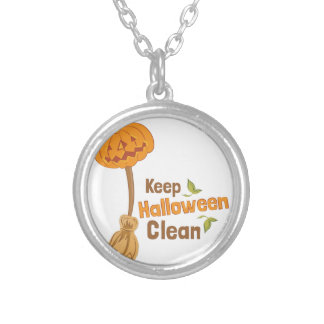 Halloween Clean Silver Plated Necklace