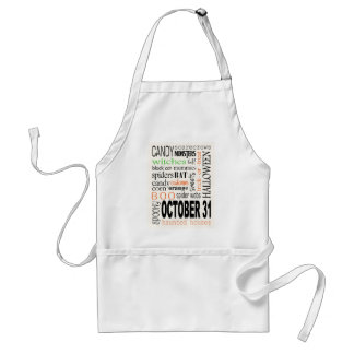 Halloween Cloud Personalize Adult Apron