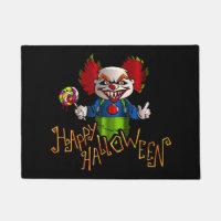 Halloween Clown Door Mat