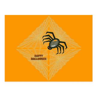 Halloween Cobweb and Spider Postcard