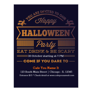 """Halloween cocktail(background color can be change) 8.5"""" x 11"""" flyer"""