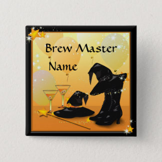 Halloween Cocktail Enchanting Party Name Button
