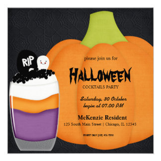 Halloween Cocktail Party Announcements