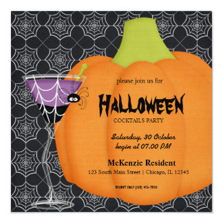 Halloween Cocktail Party Card