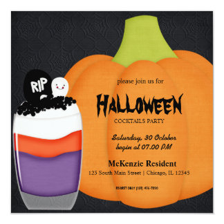 Halloween Cocktail Party Custom Invitations