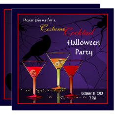 Halloween Cocktail Party Invitation at Zazzle