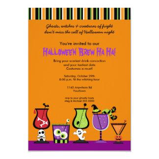 "Halloween Cocktail Party Invitation 5"" X 7"" Invitation Card"