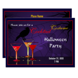 Halloween Cocktail Party Invite