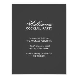 Halloween Cocktail Party Script Font Black White Card