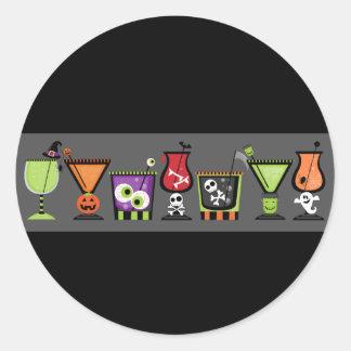 Halloween Cocktails Envelope Seals Stickers