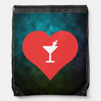 Halloween Cocktails Symbol Drawstring Bag