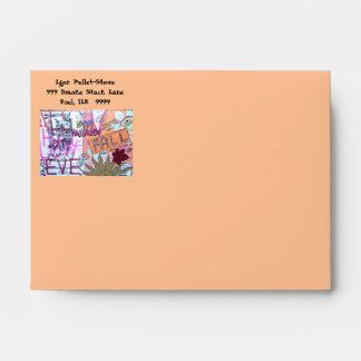 Halloween Collage  Envelope