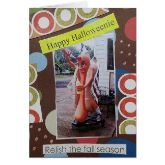 Halloween Collage Halloweenie Card