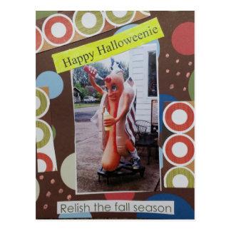 Halloween Collage Halloweenie Postcard