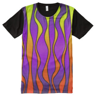 HALLOWEEN COLORED STRIPES All-Over-Print T-Shirt