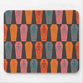 Halloween: colorful skeletons mouse pad