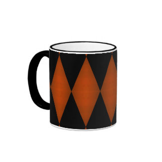 Halloween colors dark diamond pattern ringer mug