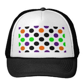 Halloween Colors Polka Dot Pattern Trucker Hat
