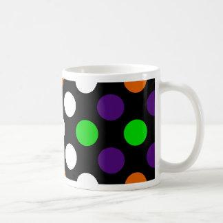 Halloween Colors Polka Dot X Pattern Coffee Mug