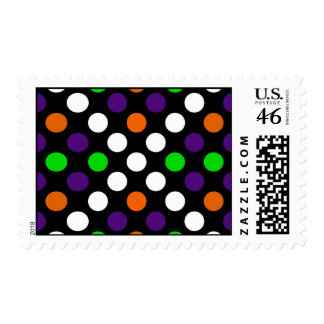 Halloween Colors Polka Dot X Pattern Postage