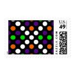 Halloween Colors Polka Dot X Pattern Stamp