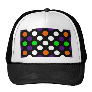 Halloween Colors Polka Dot X Pattern Trucker Hat