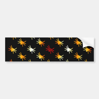Halloween Colors Spiders Pattern Bumper Sticker