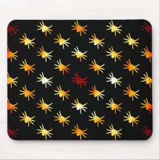 Halloween Colors Spiders Pattern Mouse Pad