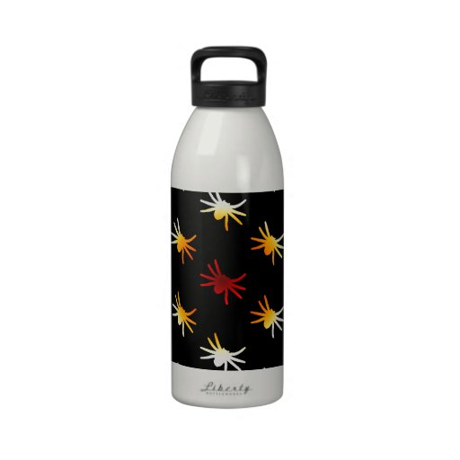 Halloween Colors Spiders Pattern Reusable Water Bottle