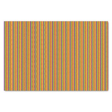 Halloween Themed Halloween Colors Striped Pattern Tissue Paper