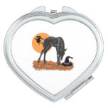Halloween Colt Witch's Hat Compact Mirror