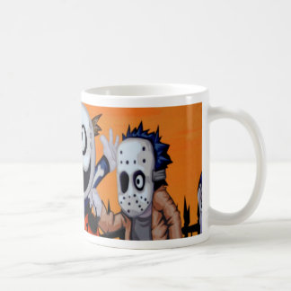 halloween comic characters coffee mug