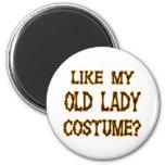 Halloween - como mi traje de la señora mayor imán