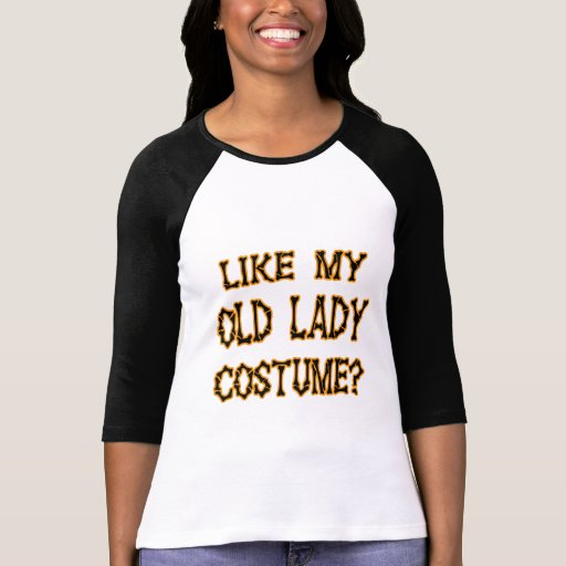 Halloween - como mi traje de la señora mayor camisetas