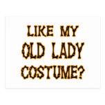 Halloween - como mi traje de la señora mayor tarjeta postal