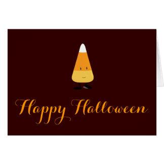 Halloween con las pastillas de caramelo sonrientes tarjeta de felicitación