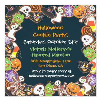 Halloween Cookie Party Invitation