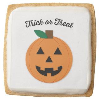 Halloween Cookie Trick Or Treat Jack O Lantern Square Premium Shortbread Cookie