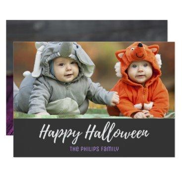 Halloween Themed Halloween Cookies Bat Pumpkin Ghost Photo Card