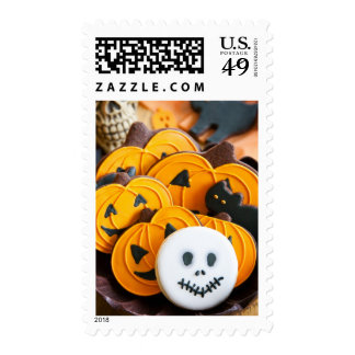 Halloween cookies postage stamp