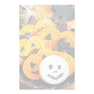 Halloween cookies stationery