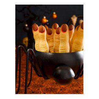 Halloween Cookies - Witch'S Fingers Postcard