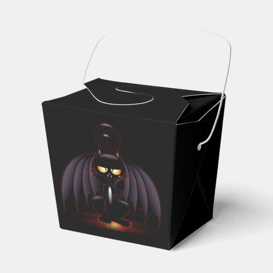 Halloween Cool Bat Cat Favor Box