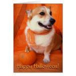 Halloween Corgi Card