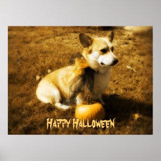 Halloween Corgi Poster