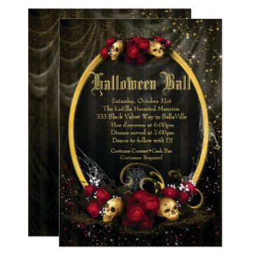 Halloween Themed Halloween Costume Ball Invitations